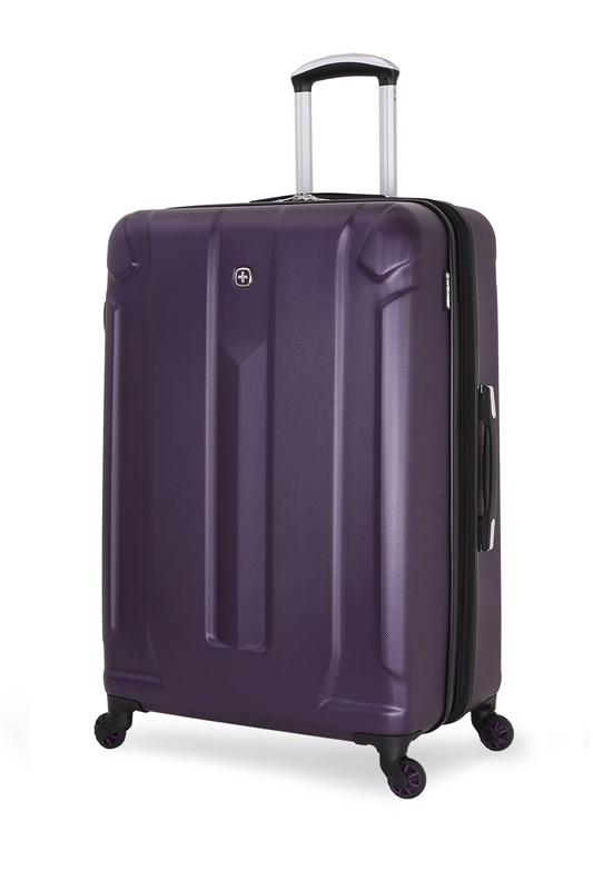 Wenger - 6573909177 Чемодан WENGER ZURICH III, фиолетовый, АБС-пластик, 48x30x79 см, 105 л<br>  (6573909177)