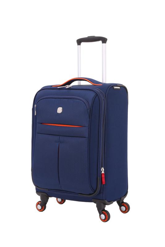 Wenger - WG6593307154 Чемодан WENGER AROSA, синий, полиэстер 750x750D добби, 48,3 x 18 x 34,4 см, 30 л (WG6593307154)