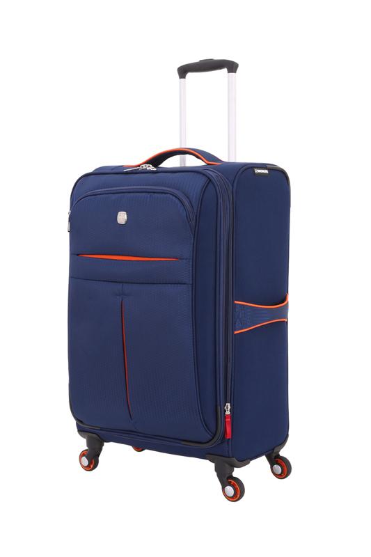 Wenger - WG6593307165 Чемодан WENGER AROSA, синий, полиэстер 750x750D добби, 59,7 x 20 x 40,6, см, 48 л (WG6593307165)