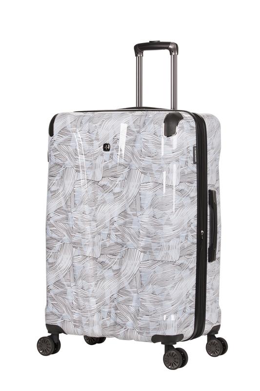 Wenger - WG7330000154 Чемодан WENGER CASCADE, белый с принтом, АБС-пластик, 35 x 23 x 49 см, 39 л (WG7330000154)