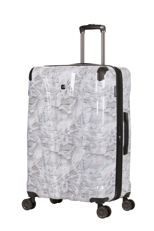 Wenger - WG7330000167 Чемодан WENGER CASCADE, белый с принтом, АБС-пластик, 42 x 26,5 x 62 см, 44 л (WG7330000167)
