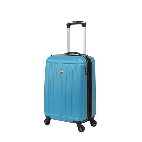 Wenger - WGR6297343154 Чемодан WENGER USTER, голубой, АБС-пластик, 34x22x55 см, 37 л (WGR6297343154)