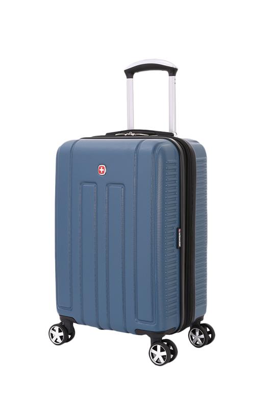 Wenger - WGR6399343154 Чемодан WENGER VAUD, синий, с подставкой для кофе, АБС-пластик, 47 x 23 x 35 см, 38 л (WGR6399343154)