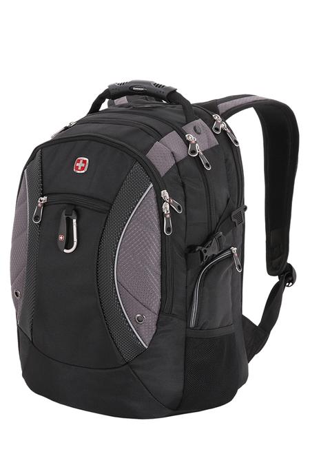 1015215 Рюкзак WENGER, чёрный/серый, полиэстер 900D, 35х23х48 см, 39 л (1015215)