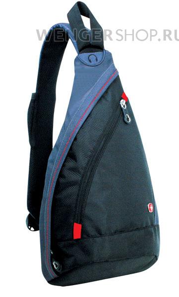 1092230 Рюкзак WENGER, черный/серый,900D 25x15x45 см, 7 л.  (1092230)