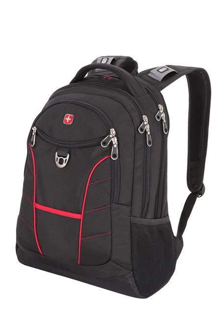 1178215 Рюкзак WENGER, чёрный/красный, полиэстер, 35х20х47 см, 33 л (1178215)