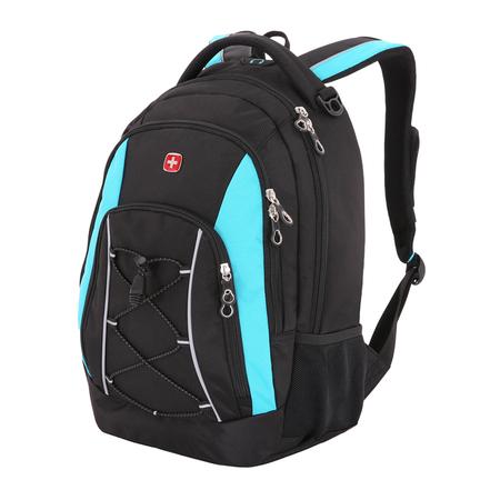 11862315-2 Рюкзак WENGER, черный/синий, полиэстер, 33х19х45 см, 28 л (11862315-2)