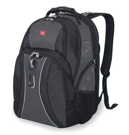 12704215 Рюкзак WENGER, черный/серый, полиэстер 900D, 34х23х47 см, 36 л.  (12704215)