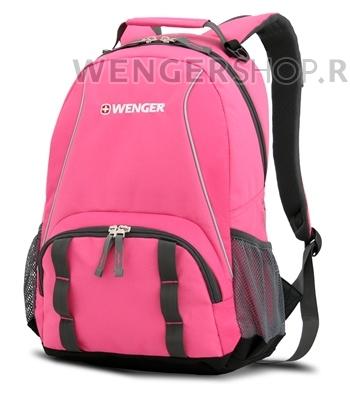 12908415 Рюкзак WENGER, розовый/серый, полиэстер 600D/добби, 32х14х45 см, 20 л. (12908415)