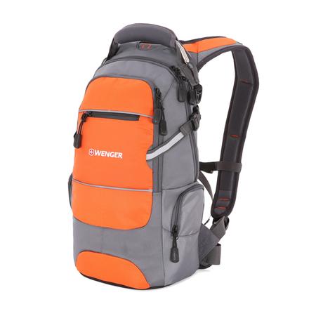 13024715-2 Рюкзак WENGER, серый/оранжевый/серебристый, полиэстер 1200D PU, 23х18х47 см, 22 л (13024715-2)