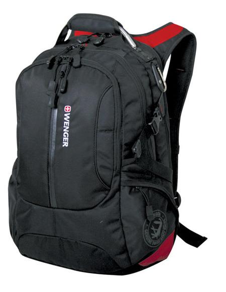 15912215 Рюкзак WENGER, черный/красный, полиэстер 1200D, 36х17х50 см, 30 л (15912215)