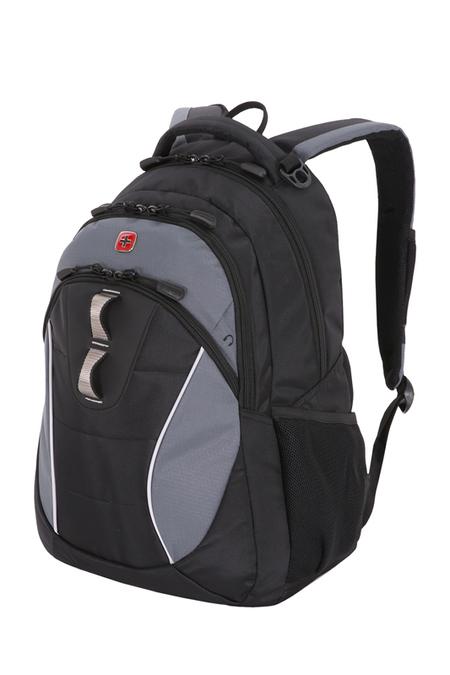 16062415 Рюкзак WENGER, черный/серый, полиэстер, 32х15х46 см, 22 л.  (16062415)