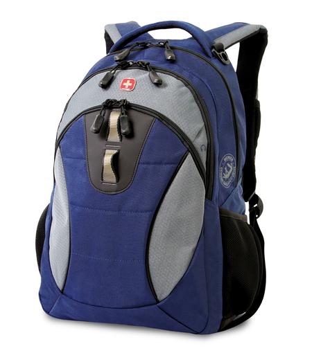 16063415 Рюкзак WENGER, синий/серый, полиэстер, 32х15х46 см, 22 л.  (16063415)