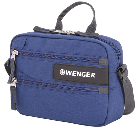 1832343010 Сумка для документов WENGER, синий, полиэстер 600D, 23x5x18 см<br>  (1832343010)