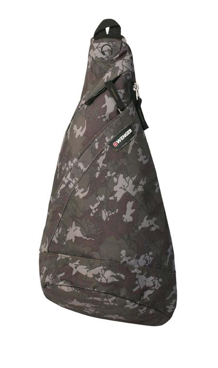 2310600550 Рюкзак WENGER с одним плечевым ремнем, камуфляж, полиэстер, 900D, 45х25х15 см, 7 л (2310600550)