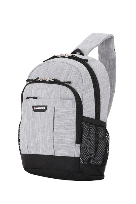 2610424550 Рюкзак WENGER с одним плечевым ремнем 13'', ткань Grey Heather, 24x14x34,3 см, 12 л (2610424550)