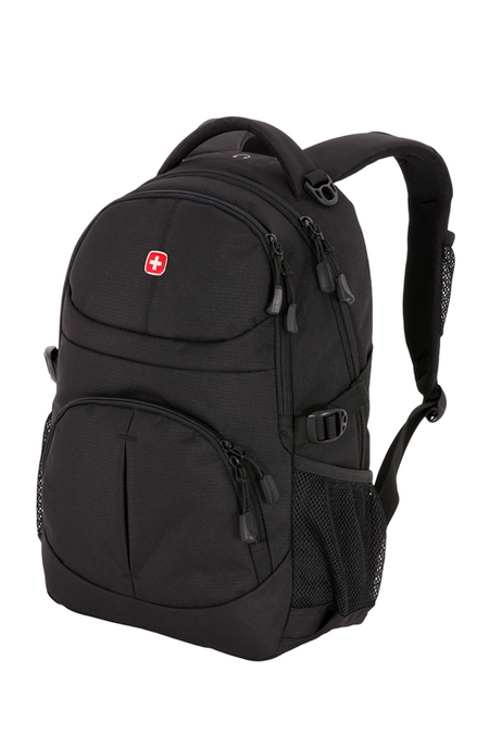 3001202408 Рюкзак WENGER, чёрный, полиэстер, 33х15х45 см, 22 л (3001202408)