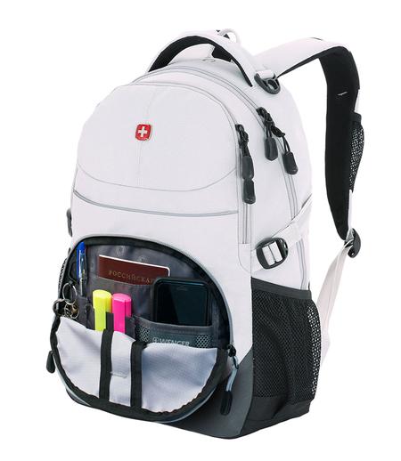 3001402408-2 Рюкзак WENGER, серый, полиэстер, 33х15х45 см, 22 л (3001402408-2)