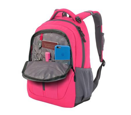 3020804408-2 Рюкзак WENGER, розовый/серый, полиэстер 600D/420D, 32x15x45 см, 22 л (3020804408-2)