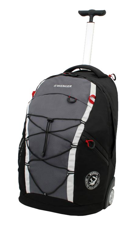 3053204461 Рюкзак на колёсах, чёрный/серый, полиэстер 900D, 33х21х50 см, 35 л.  (3053204461)