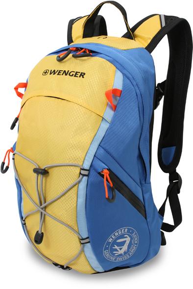 3053347402 Рюкзак WENGER, жёлтый/синий, полиэстер, 24x15x39 см, 14 л.  (3053347402)