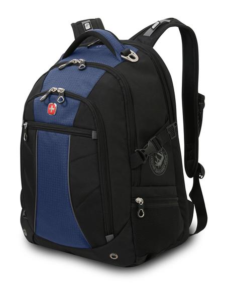 3118302408 Рюкзак WENGER, синий/чёрный, полиэстер 900D/рипстоп, 36x19x47 см, 32 л. (3118302408)