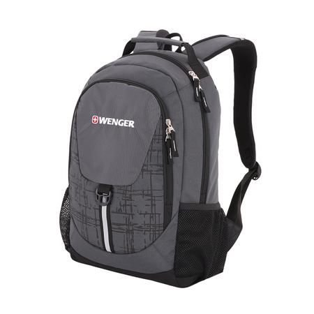 31264415-2 Рюкзак WENGER, серый/чёрный, полиэстер 600D, 32х14х45 см, 20 л (31264415-2)