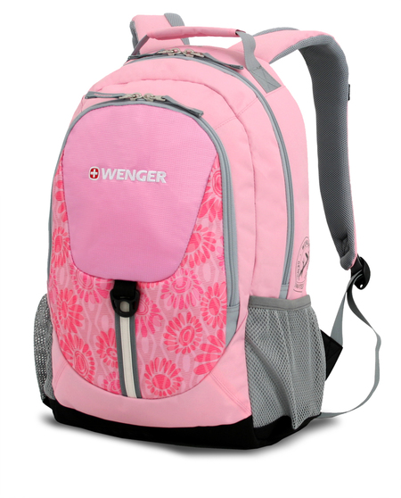 31268415 Рюкзак WENGER, розовый/серый, полиэстер 600D, 32х14х45 см, 20 л.  (31268415)