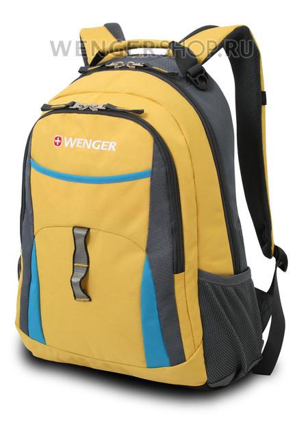 3162244408 Рюкзак WENGER, желтый/голубой/серый, полиэстер 600D/хонейкомб, 32x15x45 см, 22 л. (3162244408)