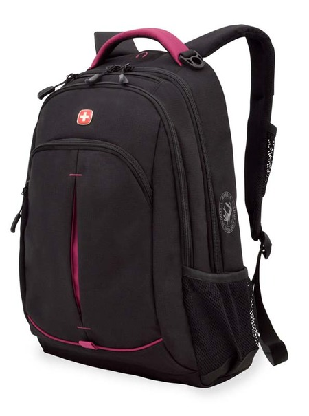 3165208408 Рюкзак WENGER, черный/фукси, фьюжн/2 мм рипстоп, 32x15x46 см, 22 л. (3165208408)