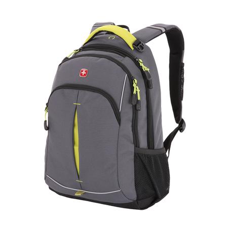 3165426408-2 Рюкзак WENGER, серый/лаймовый, фьюжн/2 мм рипстоп, 32x15x46 см, 22 л (3165426408-2)