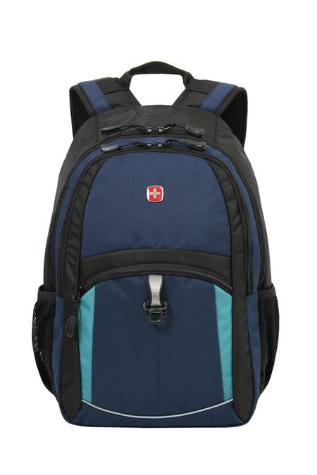 3191203408 Рюкзак WENGER, синий/черный/бирюзовый, полиэстер 600D/2 мм рипстоп/фьюжн, 33x15x45 см, 22 л.  (3191203408)