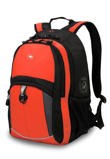 3191207408 Рюкзак WENGER, оранжевый/черный/серый, полиэстер 600D/2 мм рипстоп/фьюжн, 33x15x45 см, 22 л.  (3191207408)