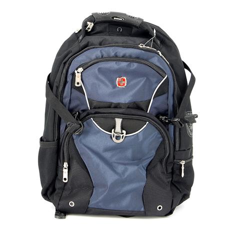 3263203410 Рюкзак WENGER, чёрный, синий, 2 отделения, карман-органайзер, полиэстер, 36х19х47, 32 л (3263203410)