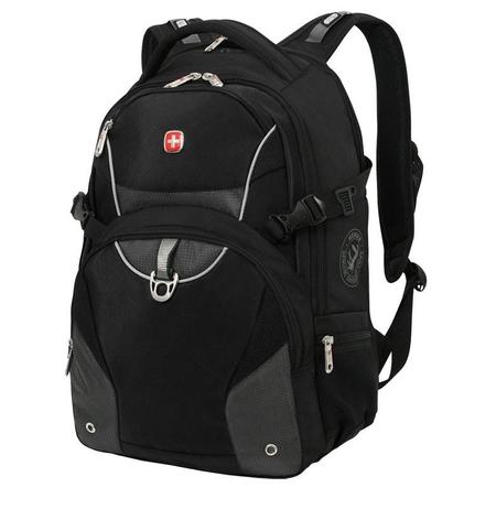3263204410 Рюкзак WENGER, чёрный/серый, 2 отделения, карман-органайзер, полиэстер, 36х19х47, 32 л (3263204410)
