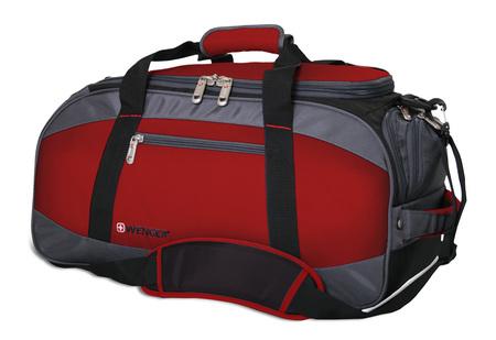 52744165 Сумка спортивная WENGER, красный/серый/чёрный, полиэстер 1200D, 52х25х30 см, 39 л. (52744165)