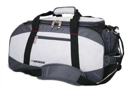52744465 Сумка спортивная WENGER, серый/чёрный, полиэстер 1200D, 52х25х30 см, 39 л. (52744465)