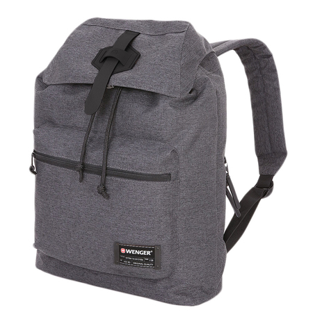 5331424403 Рюкзак WENGER 13'', cерый, ткань Grey Heather/ полиэстер 600D PU , 29х13х40 см, 15 л. (5331424403)