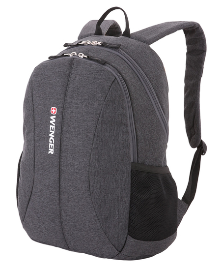 5639424408 Рюкзак WENGER 13'', cерый, ткань Grey Heather/ полиэстер 600D PU , 33х16х45 см, 23 л. (5639424408)