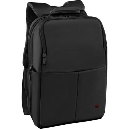 601068 Рюкзак для ноутбука 14'' WENGER, черный, нейлон/полиэстер, 28 x 17 x 42 см, 11 л (601068)