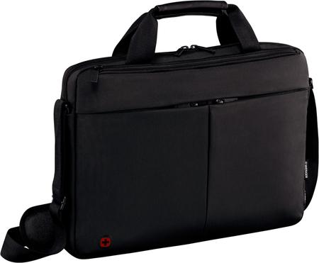601079 Портфель для ноутбука 14'' WENGER, черный, нейлон / ПВХ, 39 x 8 x 26 см, 5 л (601079)
