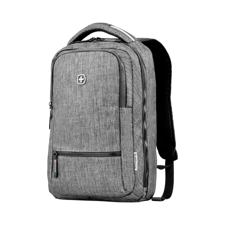 605023 Рюкзак WENGER 14'', темно-серый, полиэстер, 26 x 19 x 41 см, 14 л (605023)