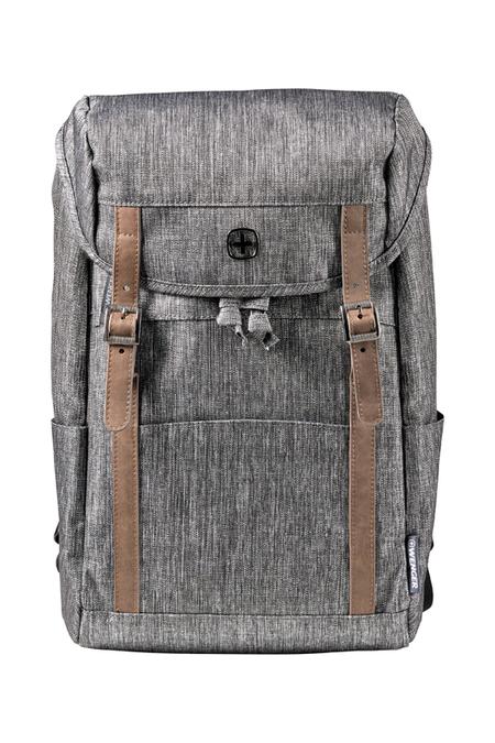 605025 Рюкзак WENGER 16'', темно-серый, полиэстер, 29 x 17 x 42 см, 16 л (605025)