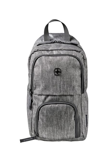 605029 Рюкзак WENGER с одним плечевым ремнем, темно-cерый, полиэстер, 19 х 12 х 33 см, 8 л (605029)