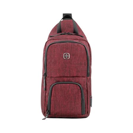 605030 Рюкзак WENGER с одним плечевым ремнем, бордовый, полиэстер, 19 х 12 х 33 см, 8 л (605030)