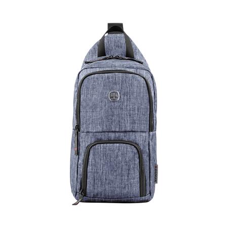 605031 Рюкзак WENGER с одним плечевым ремнем, синий, полиэстер, 19 х 12 х 33 см, 8 л (605031)