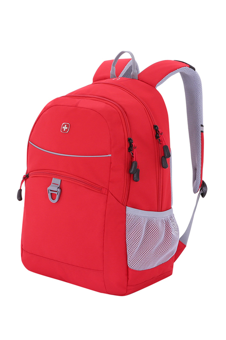6651114408 Рюкзак WENGER, красный/серый, полиэстер 600D/хонейкомб, 33x16,5x46 см, 26л (6651114408)