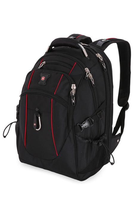6677202408 Рюкзак WENGER, чёрный/красный, полиэстер 900D/М2 добби, 34x23x48 см, 38 л. (6677202408)