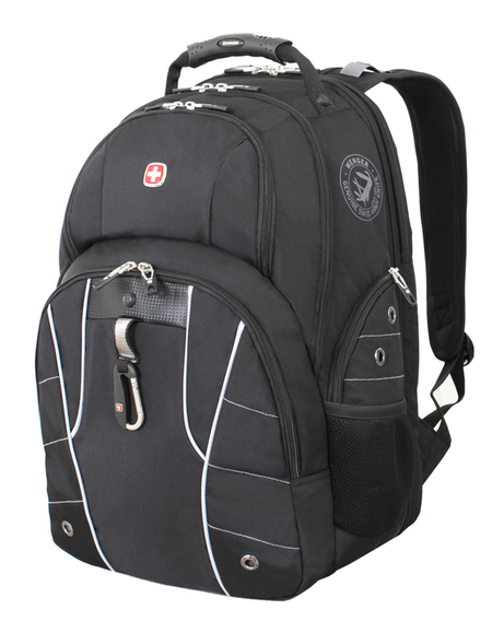 6939204408 Рюкзак WENGER, чёрный/серебристый, полиэстер 900D/600D/искуственная кожа, 34x18x47 см, 29 л. (6939204408)