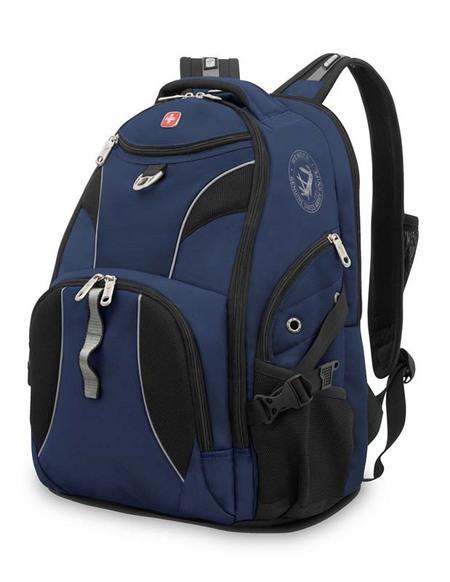 98673215 Рюкзак WENGER, синий/черный, полиэстер 900D/М2 добби, 34x17x47 см, 26 л. (98673215)